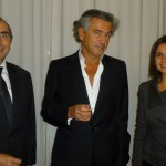 Solicitor General mr. Buyle, Bernard-Henri Levy and ASF President Hafida Talhaoui © ASF