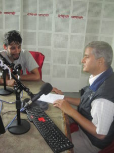 Advocate Hari Prasad Adhikari hosts a talk program twice a month on Radio Jockey © ASF.