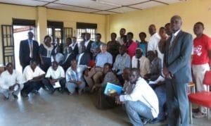 L'équipe d'ASF à Hoima a accueilli l'Ambassadeur belge en Ouganda, Son Excellence Alain Hanssen © ASF