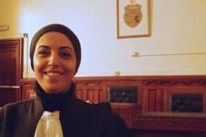 Me Ameni Oussayaa Yahyaoui, avocate au barreau de Tunis