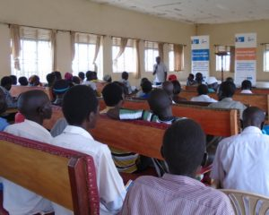 Community dialogue organized in Pabo about the Kwoyelo case
